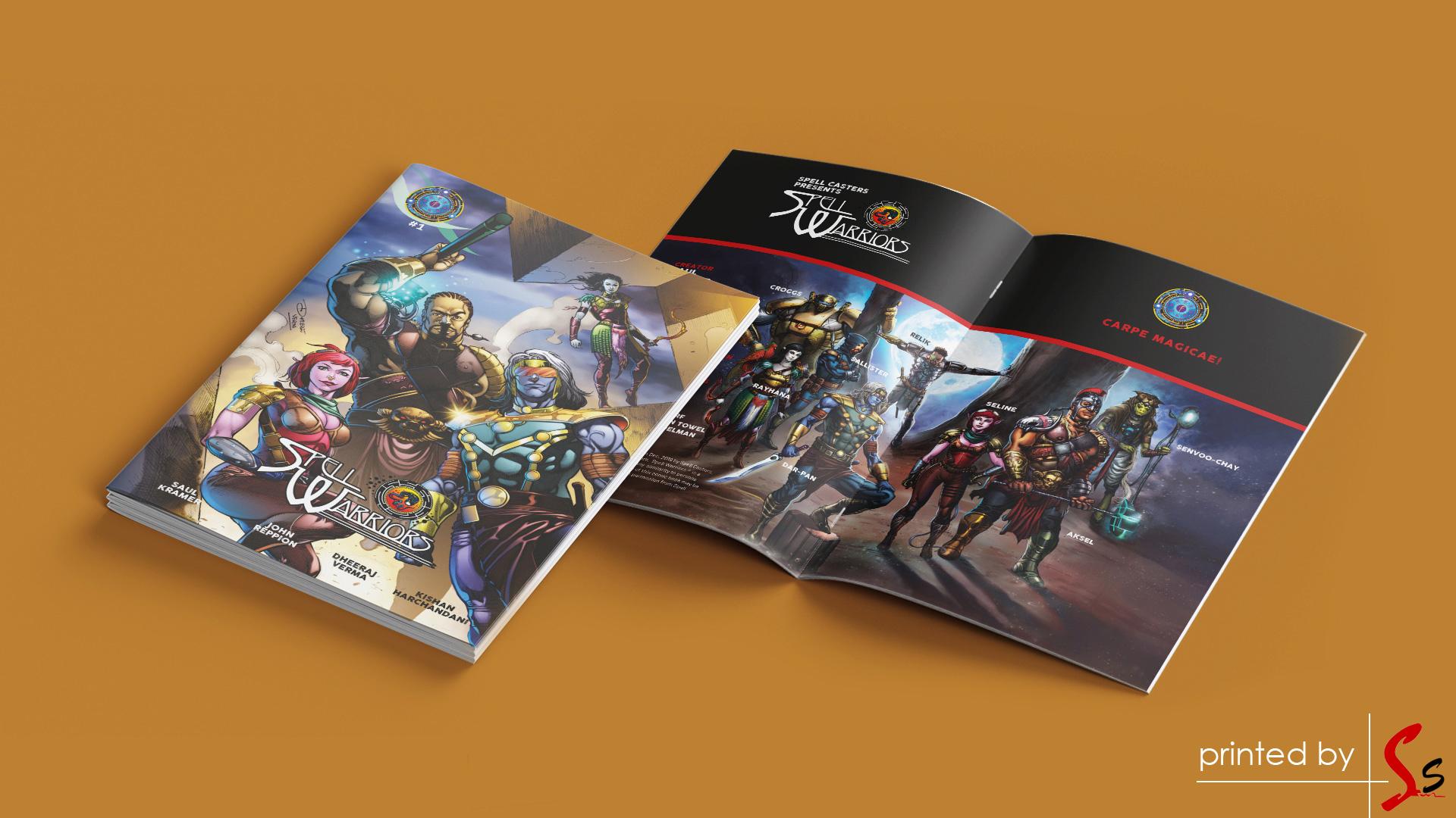 Spell Warriors Comic Book Inner