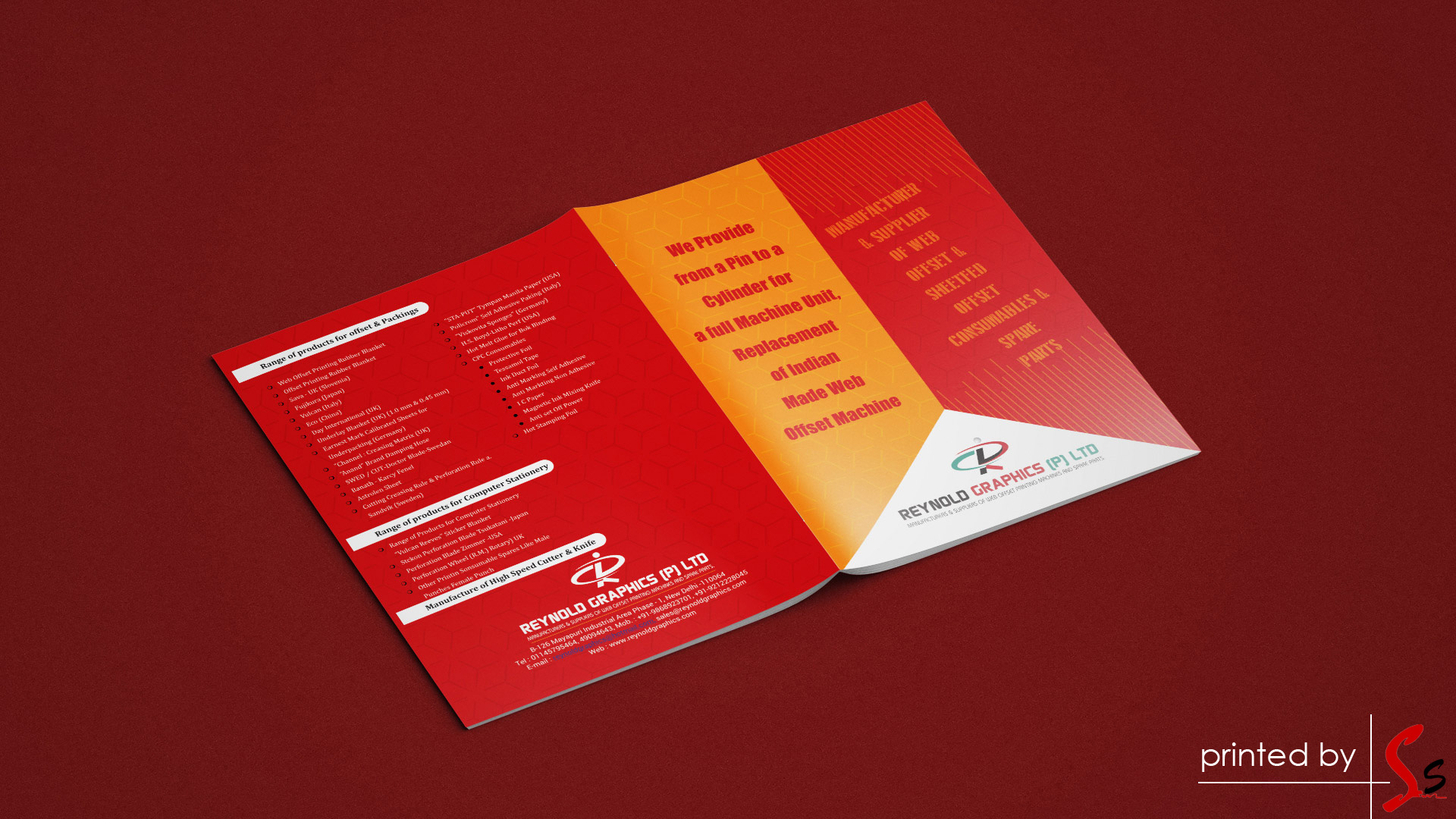 Reynold Graphics Brochure