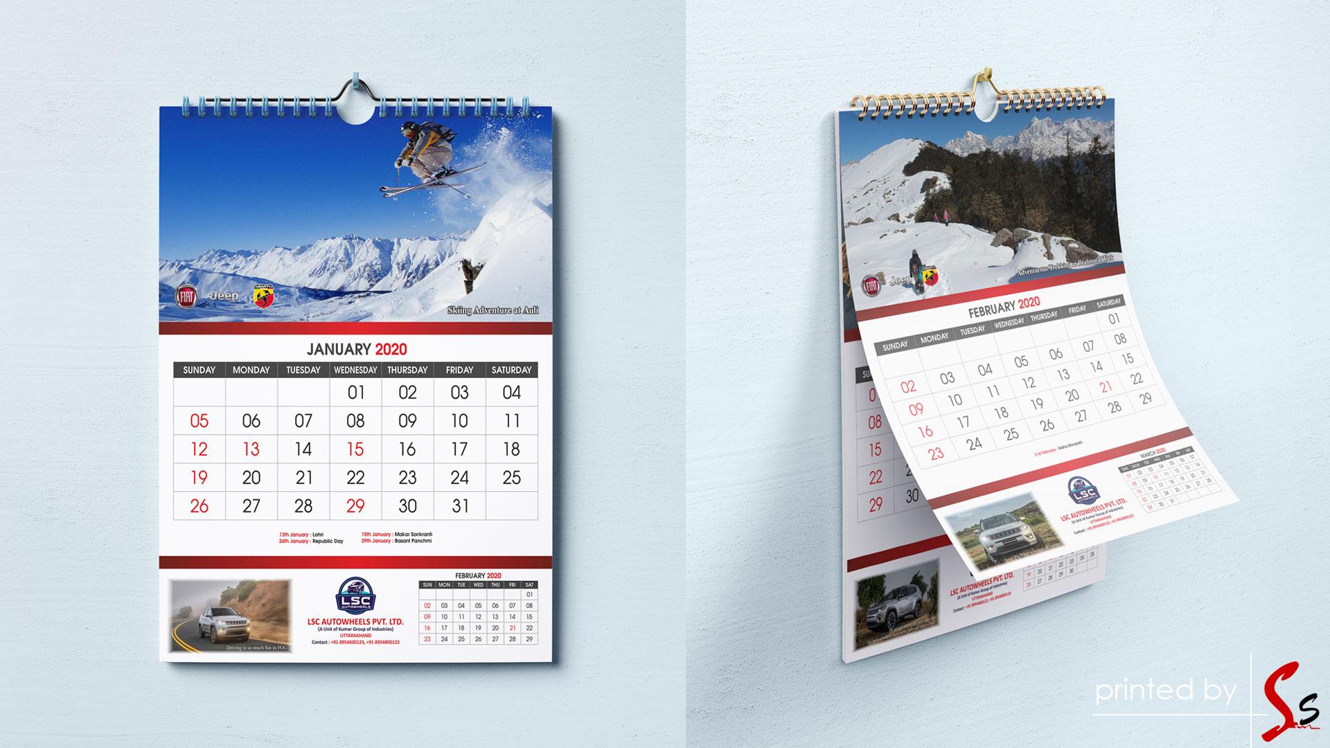 LSC Calendar Printing