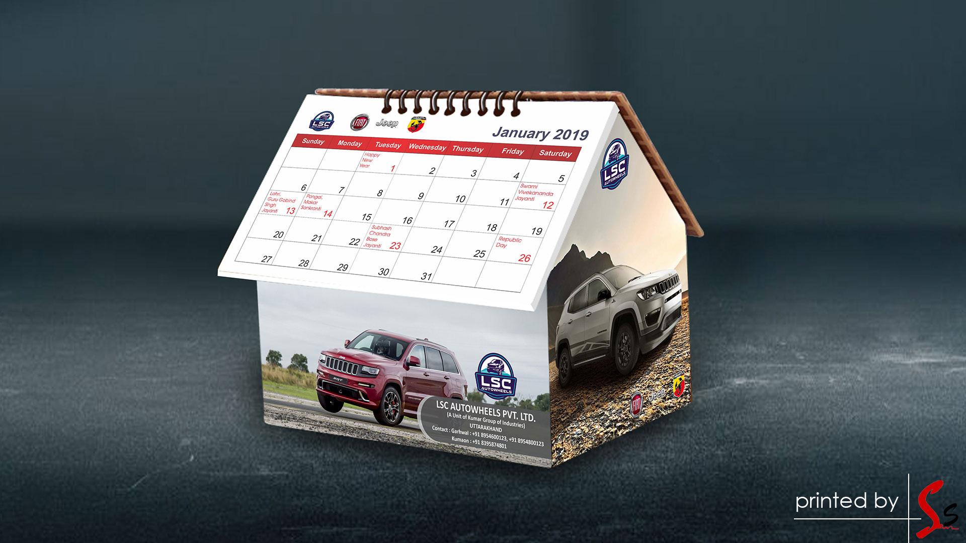 LSC Table Calendar Printing