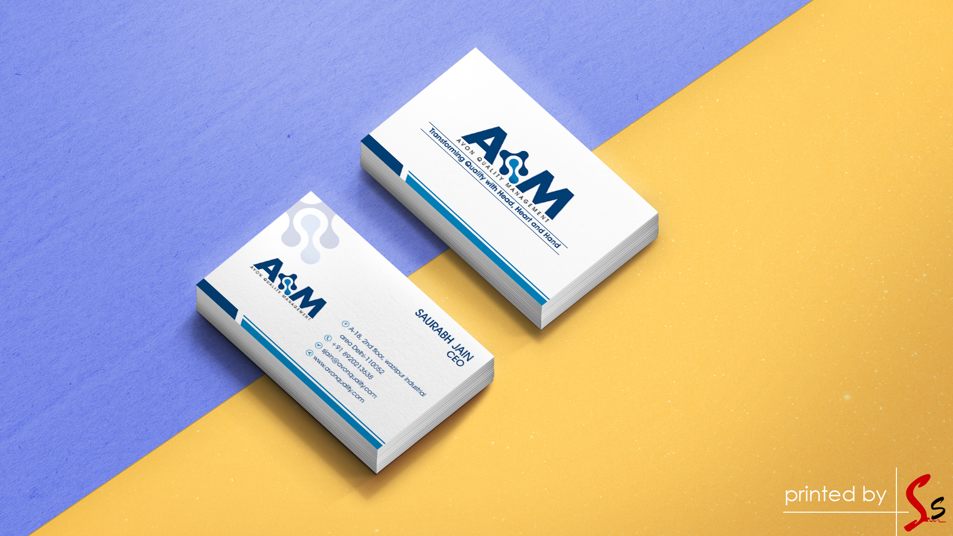 Avon Quality Managment Visiting Cards Printing